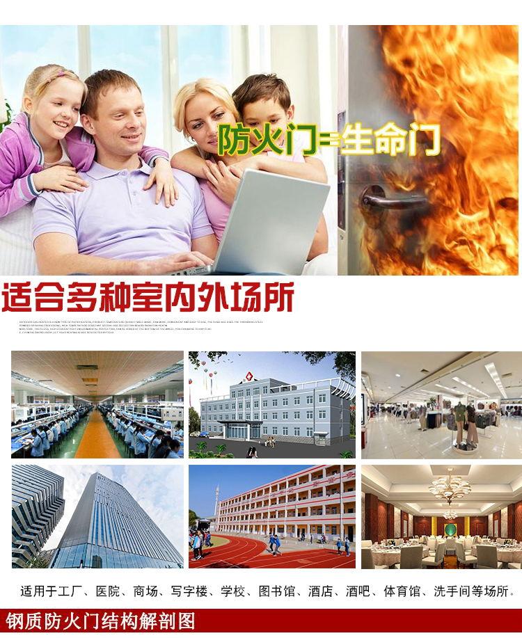 深圳防火玻璃门生产厂家订做甲级玻璃防火门示例图6