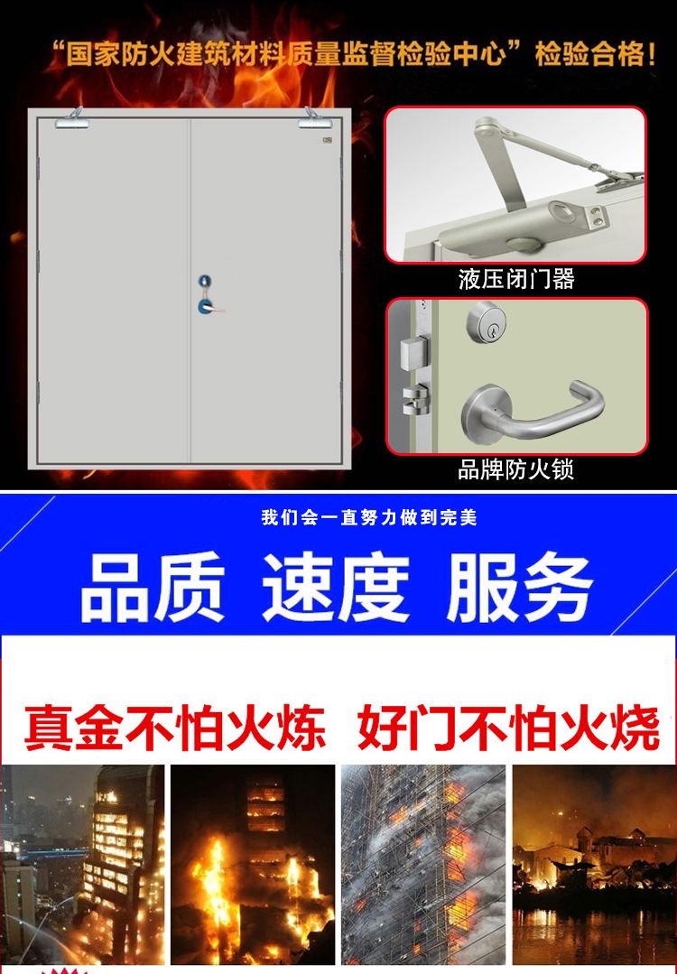 深圳防火玻璃门生产厂家订做甲级玻璃防火门示例图5