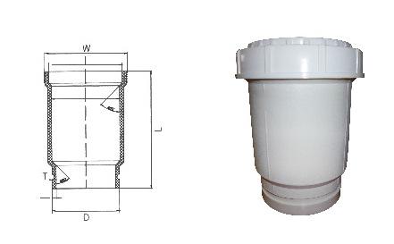 沟槽式HDPE超静音排水管,HDPE沟槽管,PP管,FRPP法兰静音排水管示例图5