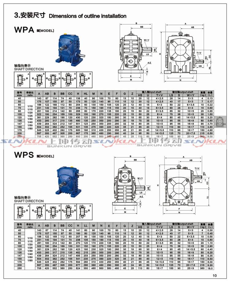 厂家特价 铸铁 蜗轮蜗杆法兰型WPDA/S/O/X减速机 批发 速比10-60示例图8