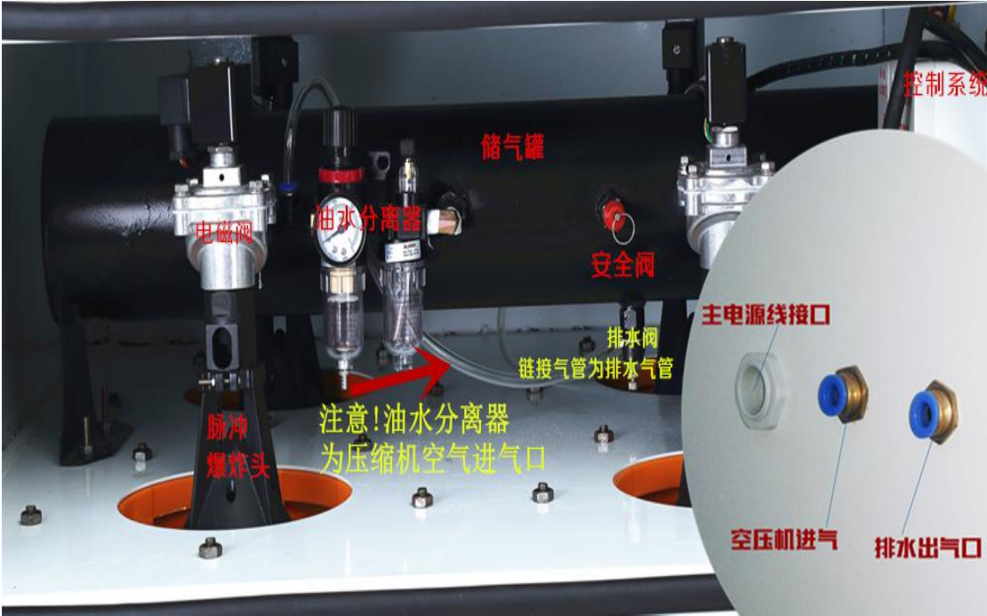 <strong>医药器械包装设备专用工业脉冲粉尘集尘机</strong> 装袋喷砂作业专用集尘器示例图26