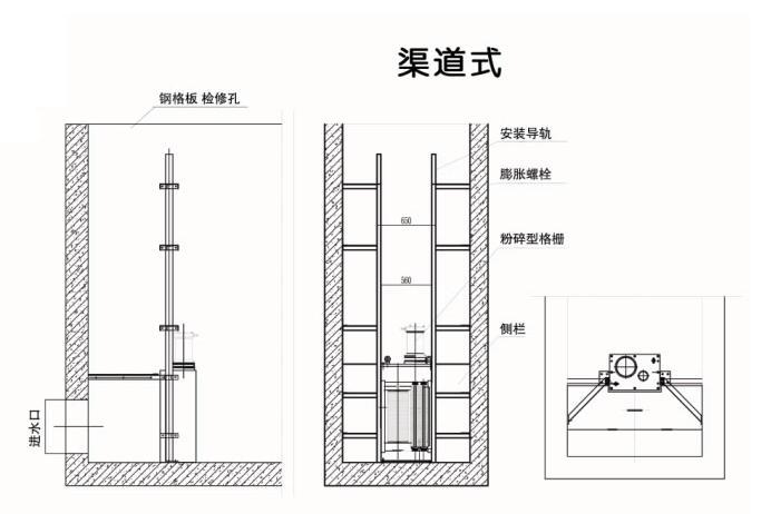 南京兰江FS转鼓式粉碎格栅 破碎电动格栅机示例图3