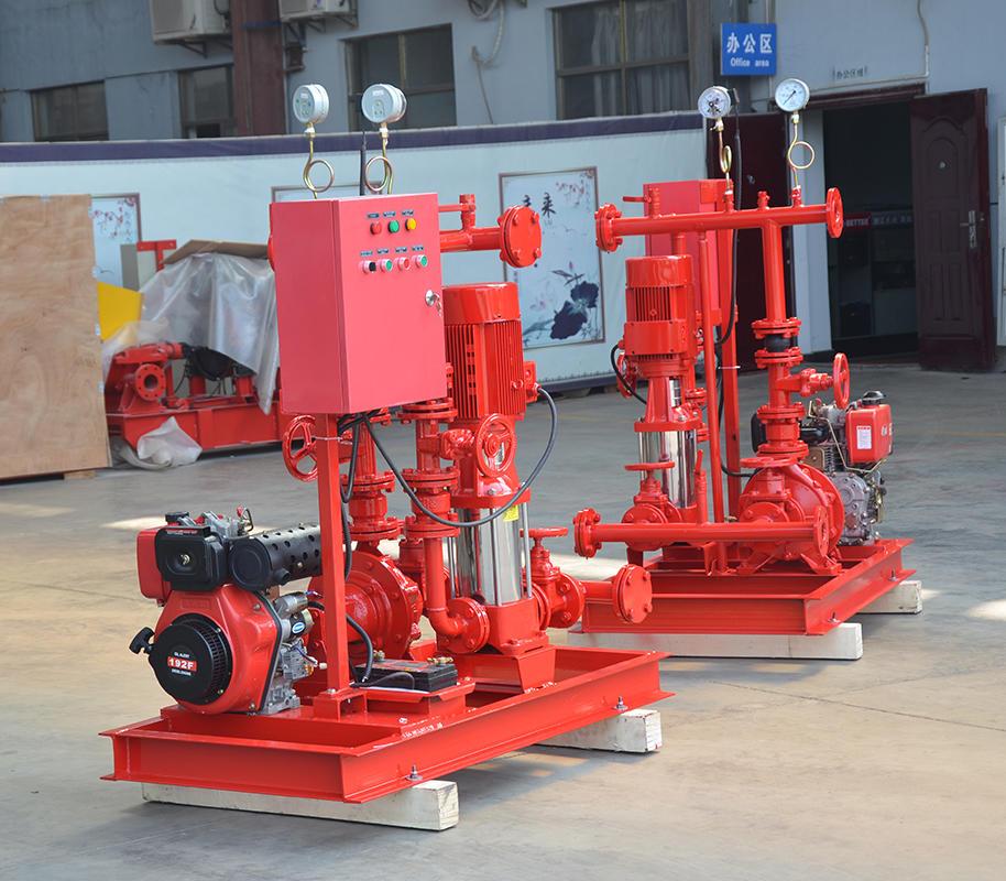 上海<strong>喜之泉专业生产销售DJ双动力消防泵</strong>,柴油机消防泵组,小型双动力消防泵,消防泵示例图1