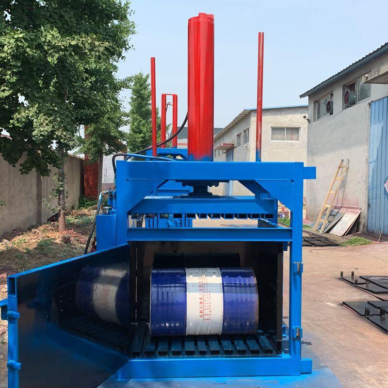 废纸专用液压打包机 60吨油漆桶压扁机厂家 200L油漆桶压扁机示例图11