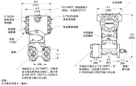绝压差压力变送器单晶硅EJA530EJA110E可替代日本横河YOKOGAWA示例图4