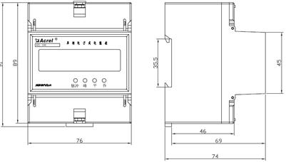 安科瑞DDSY1352-NK预付费电能计量表,量大从优示例图5