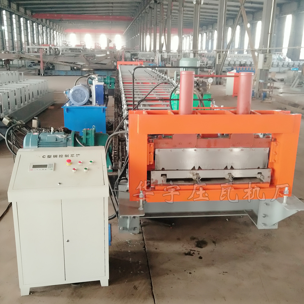 华宇新型楼承板压瓦机 楼承板机器 闭口楼层板机 钢结构承重板设备示例图5