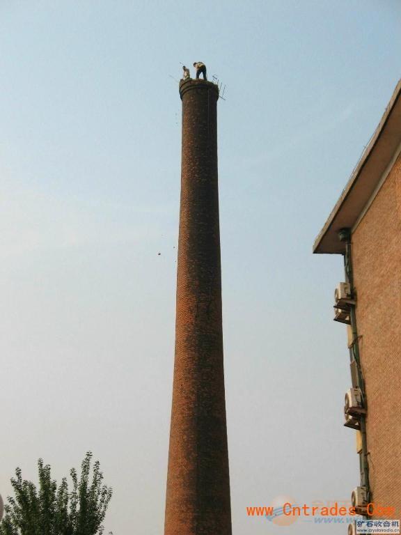 自贡市砖烟囱专业人工拆除,专业人工拆除砖烟囱示例图3