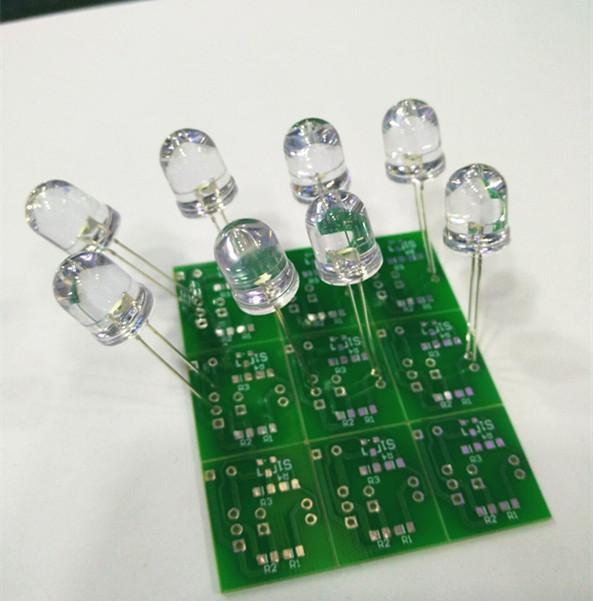 样品免费直插Ф10发光管/LED 白发白 白色 高亮示例图3