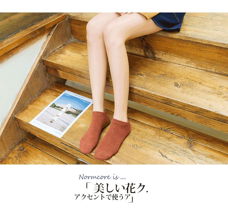 19春夏款新品潮 糖果色女士船袜 女士运动船袜全棉休闲浅口短袜示例图13