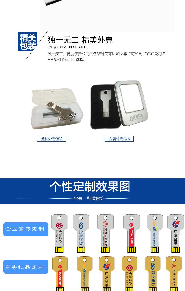 數碼電子連體鑰匙U盤廣告創意u盤定制會議禮品金屬U盤投標4gbu盤示例圖8