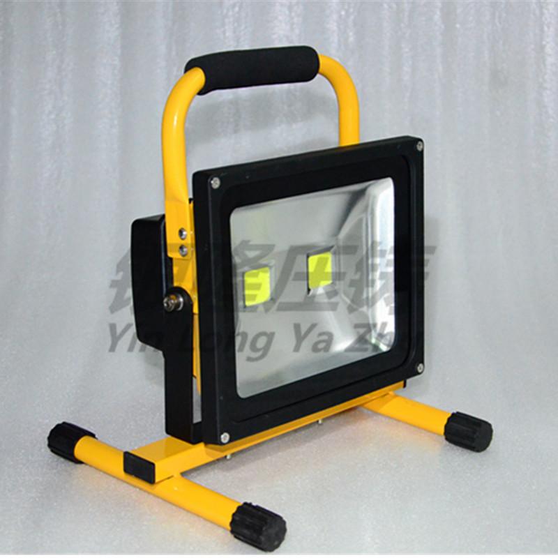 高亮持久大功率LED 40W雙頭手提充電應急投光燈