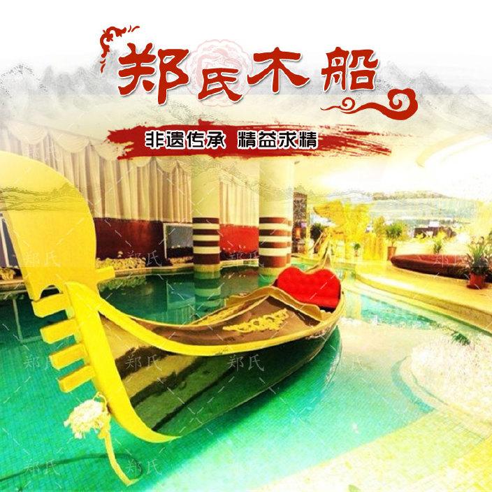 厂家直销贡多拉游船手划船  欧式两头尖手划船  景区水上游艺船