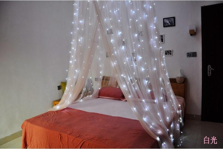 主播房间装饰 圣诞节日网红 LED窗帘灯3*3米304灯 冰条婚庆装饰灯示例图3