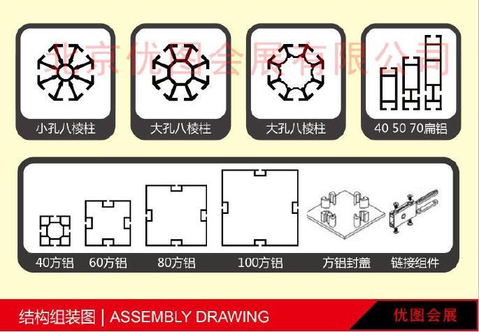 北京铝料展位,3×3×2.5米高9平方展位,定做展览搭建铝料示例图2