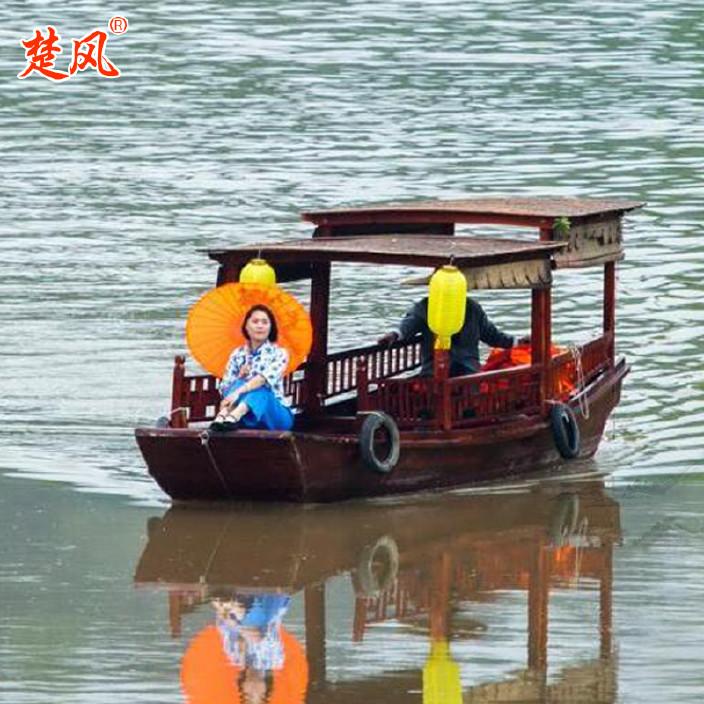 廠家供應熱銷木質仿古婚紗攝影裝飾道具主題酒店搖櫓木船烏篷船示例圖7