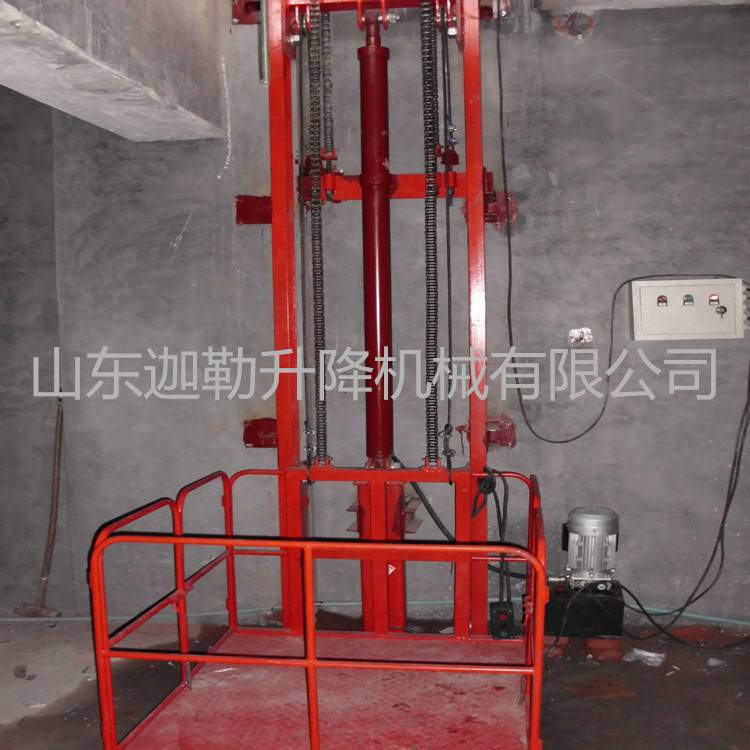 供应烟台导轨式升降货梯 家用电梯生产厂家示例图6