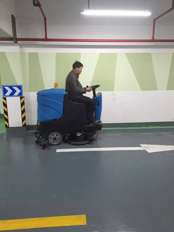 物业车库用驾驶式扫地洗地机 车库用驾驶式洗地机 全自动洗地机示例图1