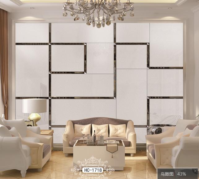 欧式电视机背景墙吧台ktv镜面拼图花自贴 艺术玻璃拼镜