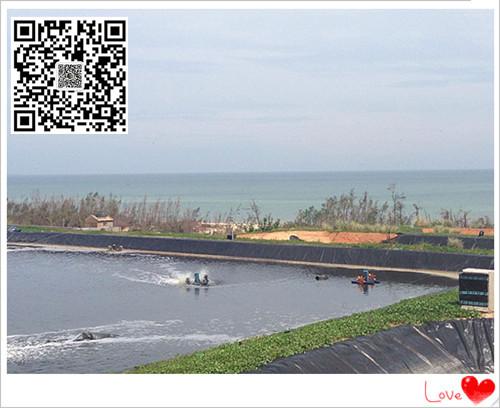 海南沼气池防渗膜生产厂家供应商直销美标黑色光面1.5mmhdpe防渗膜示例图6