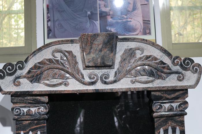 定制墓碑豪华碑山西黑墓碑艺术墓碑陵园碑广东墓碑厂家直销示例图2