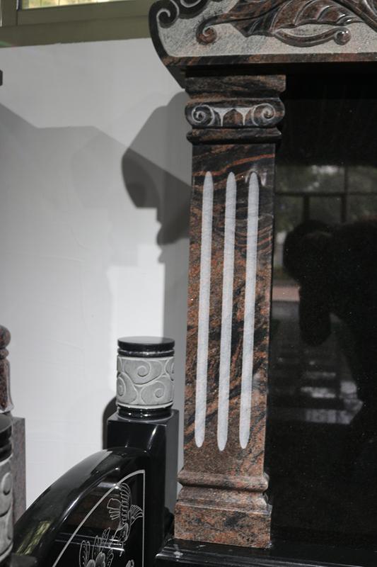 定制墓碑豪华碑山西黑墓碑艺术墓碑陵园碑广东墓碑厂家直销示例图3