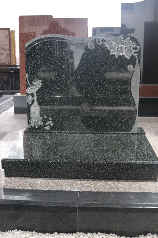 湖南墓碑厂家直销公墓艺术墓碑 印度绿艺术墓碑 豪华墓碑可定制示例图5