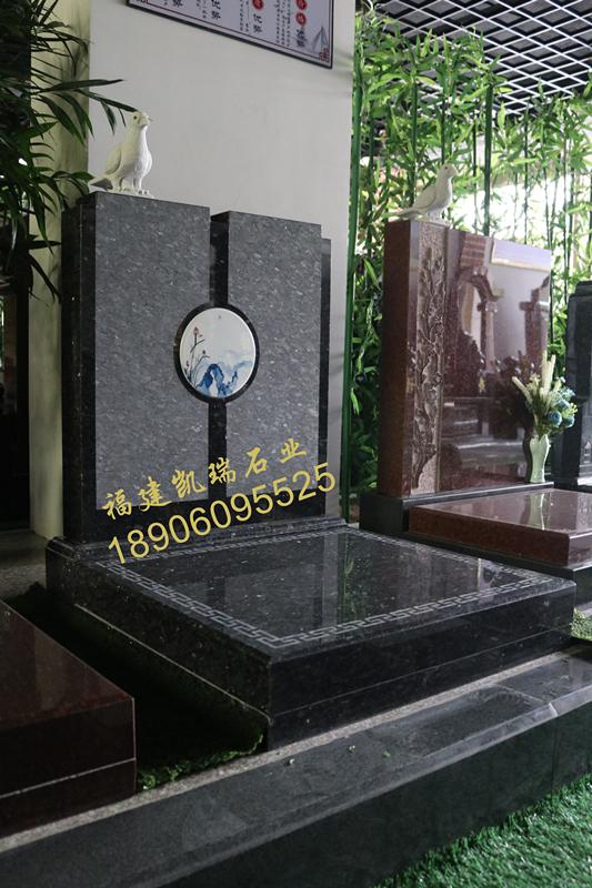云南墓碑厂家直销小型艺术墓碑 瓷画艺术墓碑 节地生态墓碑示例图7