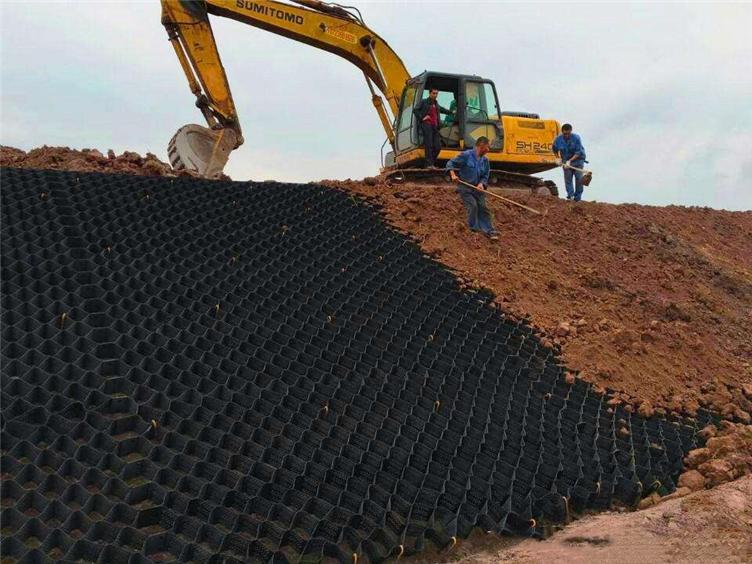 土工格室生产厂家现货供应 护坡土工格室 土工格室报价 蜂巢土工格室 耐腐蚀 规格齐全示例图6
