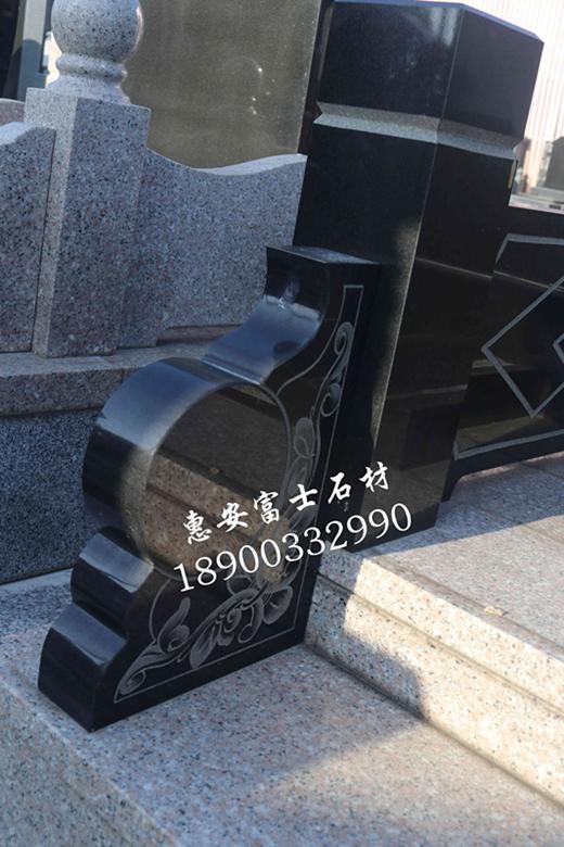 福建墓碑加工厂山西黑墓碑 自有矿山专业生产加工山西黑传统墓碑 艺术墓碑示例图3