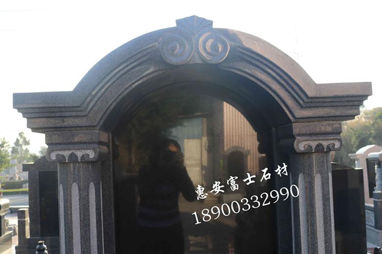 墓碑加工厂定制个性化传统墓碑艺术墓碑豪华型夫妻合葬墓碑示例图2