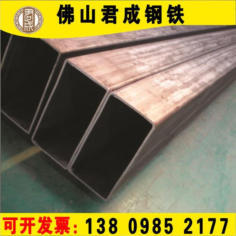 佛山君成鋼鐵定制直縫20×40矩形管 黑色方矩管 201扁方通 Q235B鍍鋅鐵管 裝飾切割鋼管 304不銹鋼拉絲方管