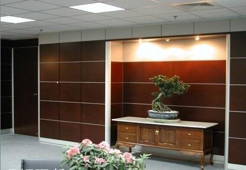 厂家直销杭州泰桓办公家具饰面板高隔断定制办公室隔墙高隔间防火板隔墙