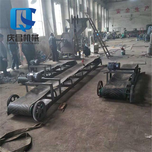 定做各种型号皮带输送机 自动输送设备 小型移动式皮带输送机 带式输送机 升降式装车输送设备防滑