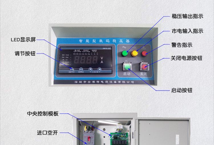 大功率380V三相稳压器SBW250KW300KW350KW全自动高精度稳压器示例图6