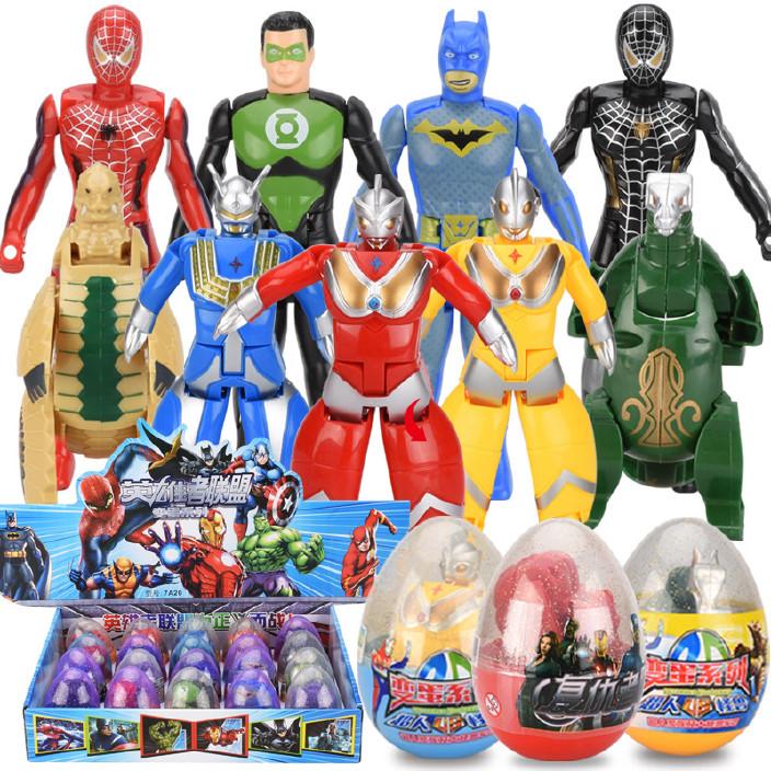 变形玩具英雄者联盟手办模型变形蛋仿真钢铁侠超级英雄变形蛋图片