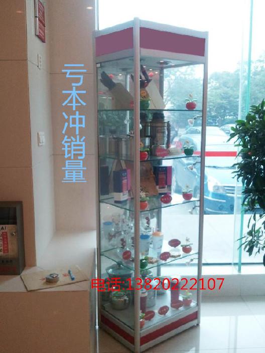 天津特价钛合金精品展柜 展示柜 旋转柜 玻璃展柜 饰品展示柜批发