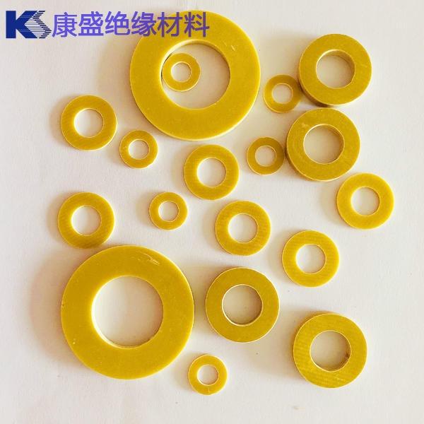定制3240环氧树脂垫片 黄色环氧玻璃纤维垫圈 环氧板垫加工生产厂家