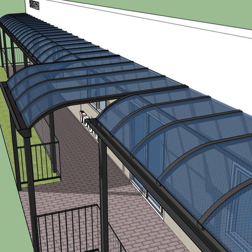 定做窗户雨棚 铝合金门头棚 阳台户外遮光棚 房顶遮雨棚