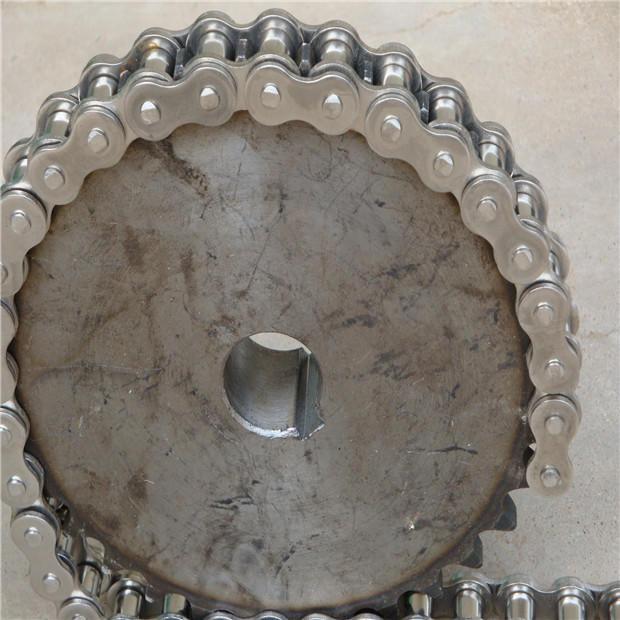定做雙節距輸送鏈條、碳鋼鏈條、高溫工業鏈條、單側外片雙孔彎板輸送鏈條、