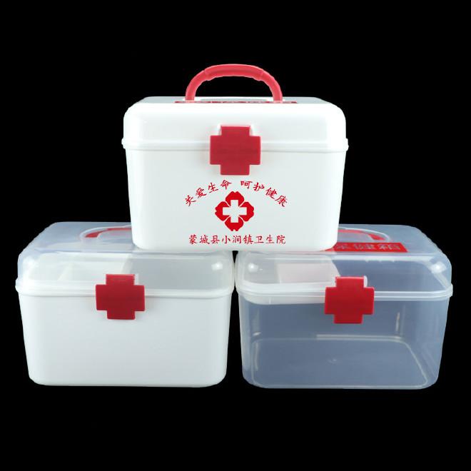 厂家直销塑料药箱 家用药箱 药品收纳箱手提箱药房赠品扶贫保健箱示例图1