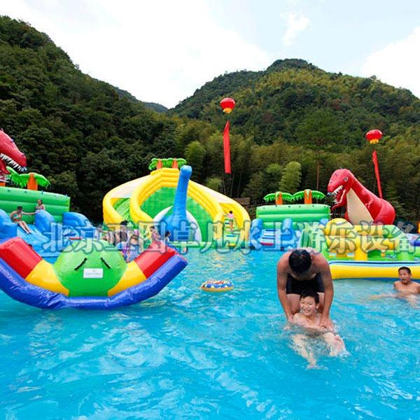 廠家直銷水上充氣玩具,香蕉船,水上滑梯,水上樂園,親子樂園