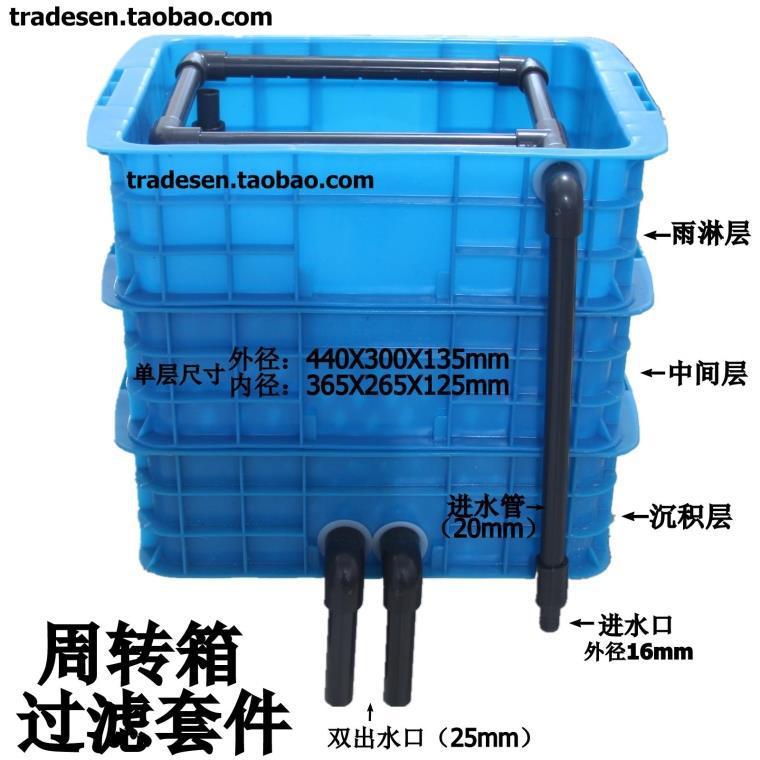 【石头周转箱过滤世界鱼缸过滤箱套件过滤系简易别墅的水池我图片