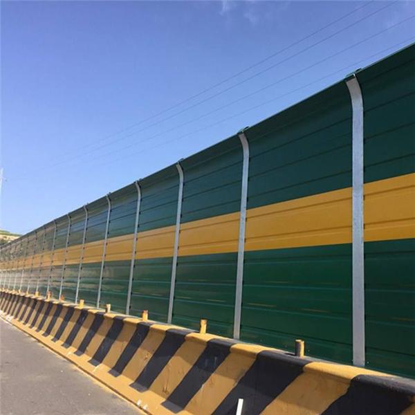 声屏障,隔声屏障板,铝合金复合吸声板,绿色隔音屏,高铁声屏障