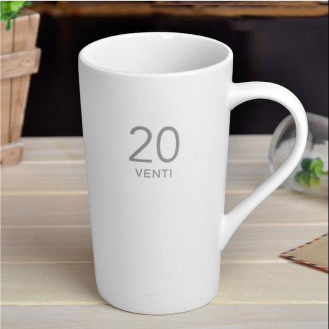 厂家直销 陶瓷马克杯 哑光磨砂数字杯 陶瓷杯