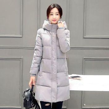 批发2018冬季新款羽绒棉衣女中长款欧美修身棉服女棉袄保暖大码加图片