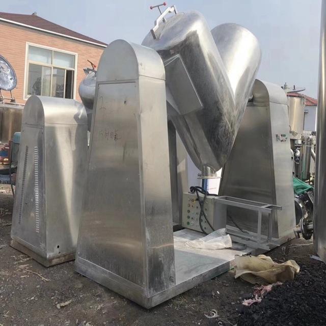 上海想要3000升V型高效混料机,济宁回收二手5000升不锈钢V型回转混合机有