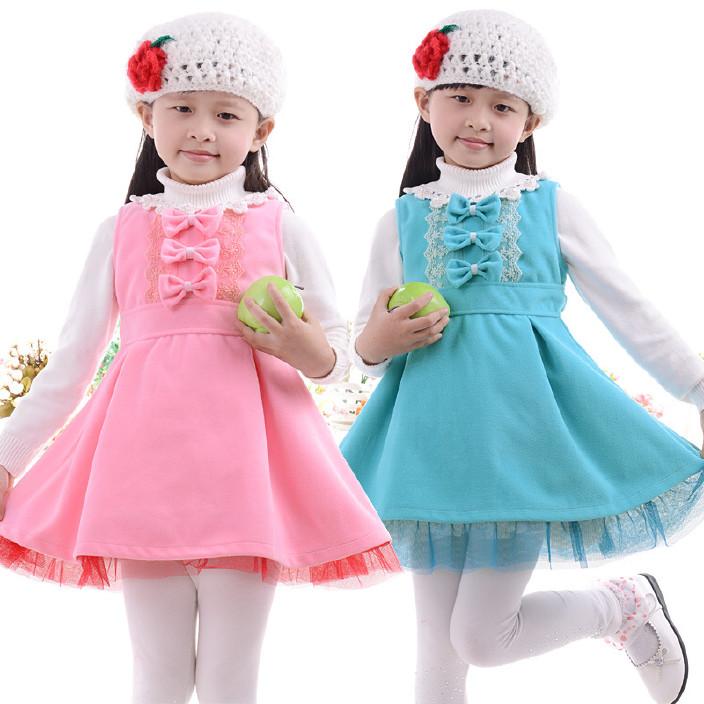 儿童裙批发 韩版童装厂家女童春秋裙子 吊带背心裙 支持一件代付图片