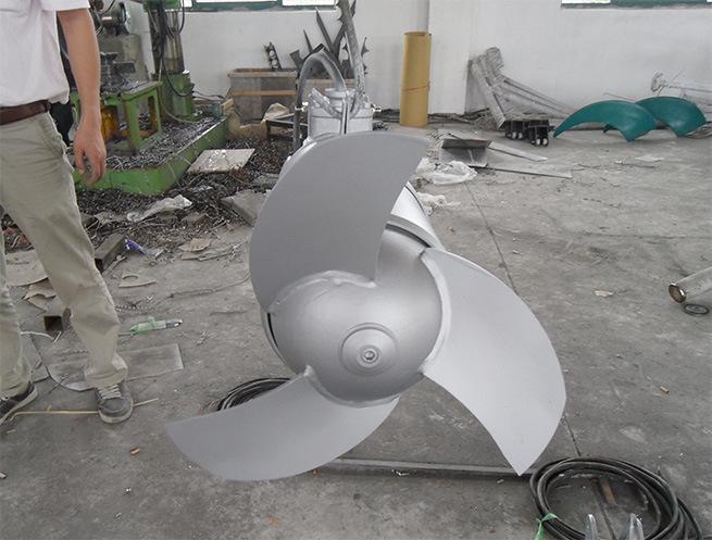 QJB潜水搅拌机 水下低速推流器 混合池工业污水废水处理全不锈钢示例图18