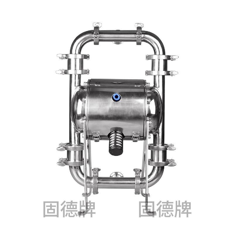 卫生级气动隔膜泵 固德牌第三代隔膜泵 QBW3-40抛光级不锈钢材质 食品卫生泵  厂家直销